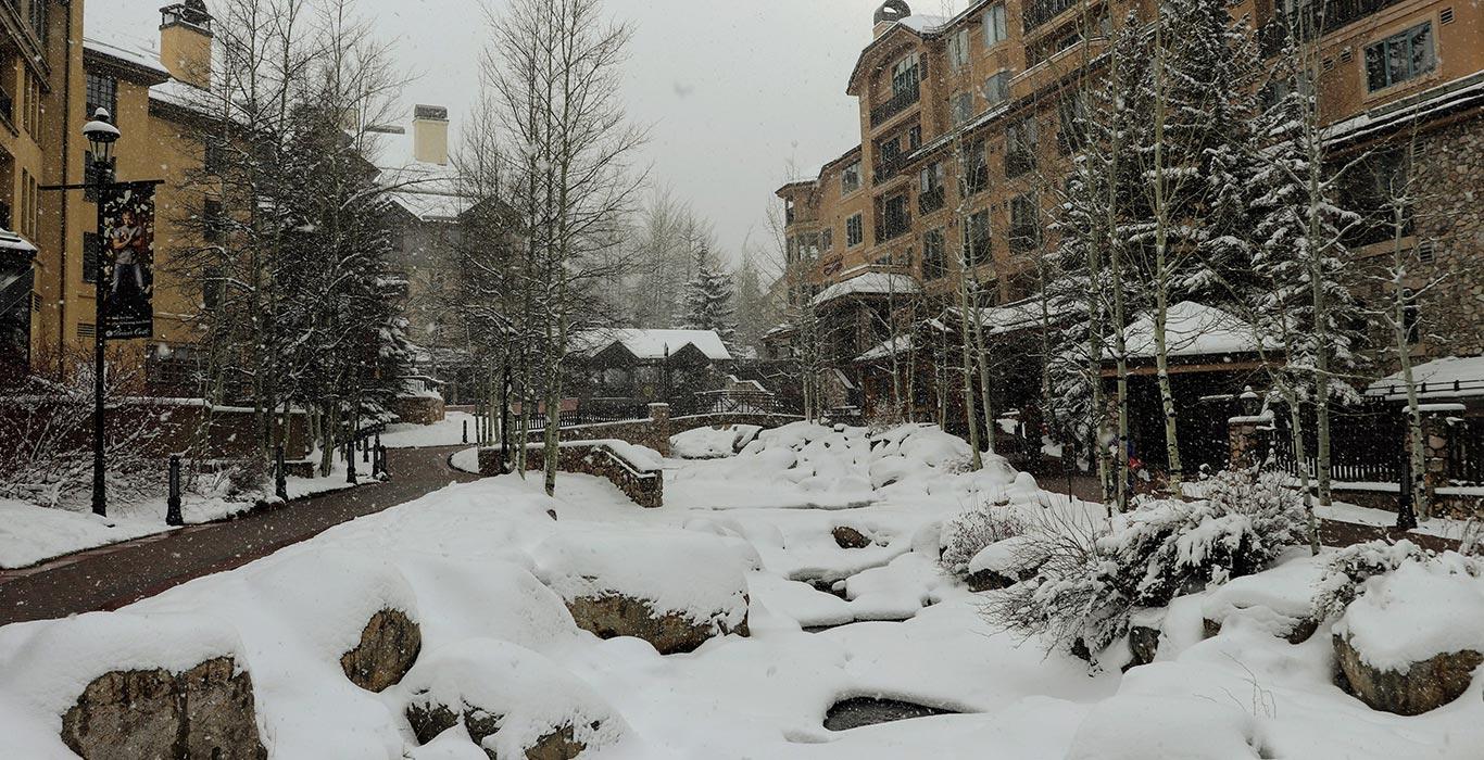 Heavy snowfall at Beaver Creek Village, Beaver Creek Resort