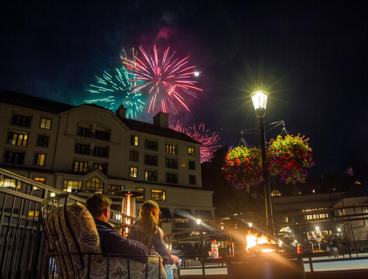 Fourth of July fireworks in the Mountains - The Travel Whisperer