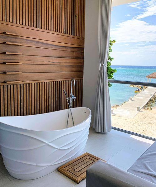 Tranquility Soaking Tub. Sandals Wedding Experience